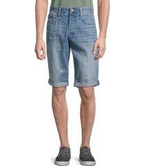 g-star raw men's organic cotton denim shorts - sun faded wash - size 29