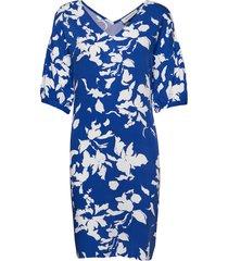 dhflorence dress korte jurk blauw denim hunter
