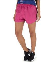 shorts oxer básico run - feminino - rosa escuro