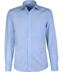 giovanni capraro heren overhemd lichtblauw semi spread ml7 comfort fit