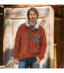 sundance catalog men's snowy pass pullover in charcoal small