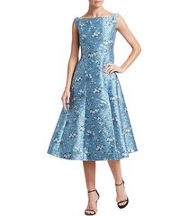 kinsey floral fit-&-flare dress