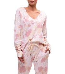 women's n:philanthropy aries tie dye sweatshirt, size x-small - pink