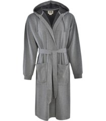 hanes 1901 men's athletic hooded fleece robe