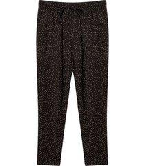 pantalón estampado a puntos color negro, talla 6