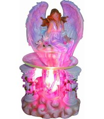 pink angel oil/tart warmer - use with scentsy and yankee candle wax