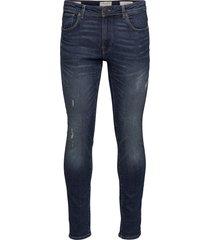 slhslim-leon 3034 m.blue st jeans j noos slimmade jeans blå selected homme