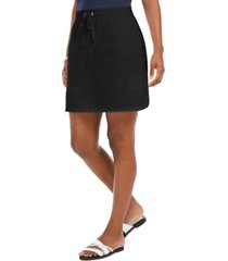 karen scott petite drawstring skort, created for macy's