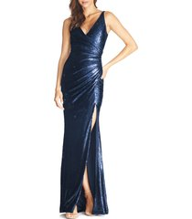women's dress the population jordan ruched mermaid gown