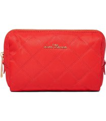 marc jacobs beauty triangle pouch bag - red