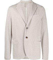 harris wharf london single-breasted cotton blazer - neutrals