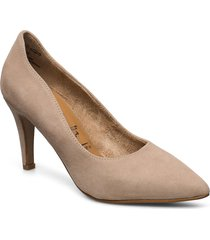 woms court shoe shoes heels pumps classic beige tamaris