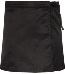 1017 alyx 9sm wrap-front mini skirt - black