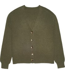apparis andi waffle knit cardigan - green
