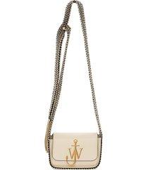 jw anderson anchor scarf crossbody bag - neutrals