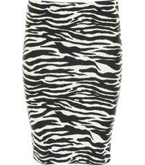 the attico zebra print mini skirt