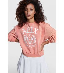 alix the label 2103893950 ladies knitted alix university sweater