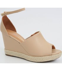 sandália feminina open boot plataforma vizzano