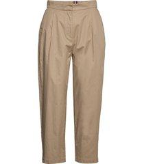 cotton poplin tapered pant chino broek beige tommy hilfiger