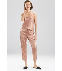 key essentials pants, women's, red, 100% silk, size xs, josie natori