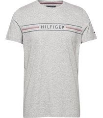 corp hilfiger tee t-shirts short-sleeved grå tommy hilfiger