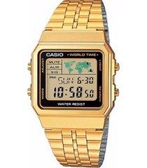 reloj casio a-500wga-1d digital 100% original-ambar