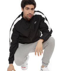 chaqueta reebok cl trackjacket negro - calce regular