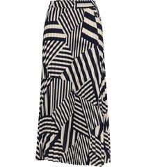 slfalexis mw aop midi skirt b lång kjol multi/mönstrad selected femme