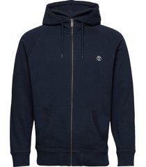 e-r basic reg zip thru hoodie trui blauw timberland