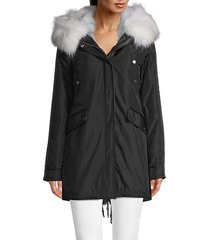 belleville reversible fox fur parka coat