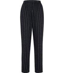 pinstripe elasticated pants in nero