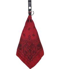 amiri bandana keychain - red