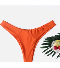 braguita de bikini naranja lisa