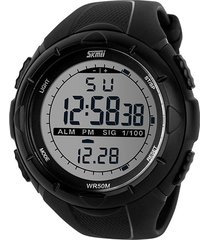 skmei 1025 reloj digital militar impermeable - negro
