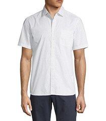 anchor-print short-sleeve shirt