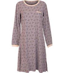 pyjama's / nachthemden lisca nachthemd met lange mouwen electrapaarse