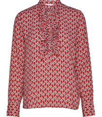 2nd jerome circus blouse lange mouwen rood 2ndday