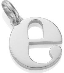 alphabet pendant e, sterling silver