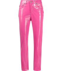 fiorucci yves vinyl trousers - pink