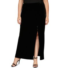 alex evenings plus size velvet skirt