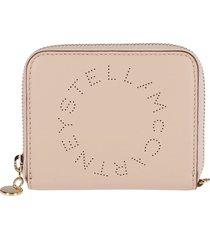stella mccartney nude faux leather wallet