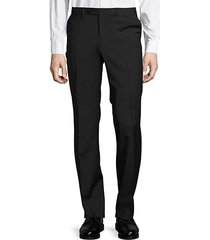 narrow stripe wool stretch dress pants
