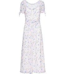miu miu poppy print dress - white