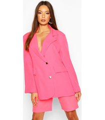 neon oversized blazer, neon-pink