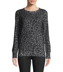 rei leopard-print cotton & cashmere sweater