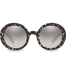 48mm star-print round sunglasses