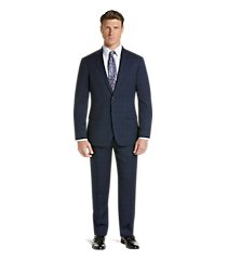 traveler collection slim fit plaid men's suit clearance by jos. a. bank