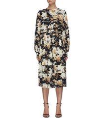 floral print day dress