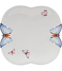 conjunto 6 pratos rasos de porcelana wolff 24cm borboletas - pronta entrega