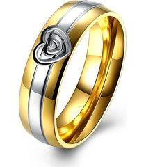regalo dell'anello delle coppie dell'acciaio inossidabile del cuore dell'anello della coppia dolce